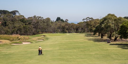 Hole 2 at Mt Martha Public Golf Course