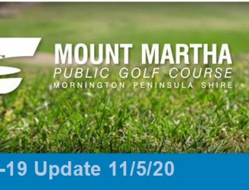 Golf Course Re-Opens this Wednesday